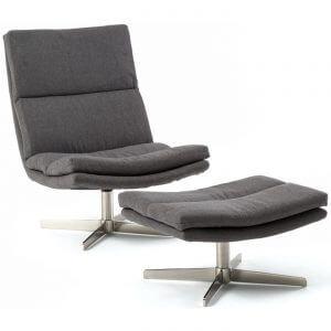 8ac8f89d4f66af Ce fauteuil relax design arbore un revêtement textile gris foncé facile à  entretenir et un pied résistant en forme d étoile. Extrêmement confortable  ...