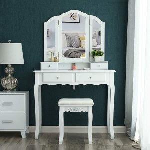 coiffeuse meuble Songmics RDT07W