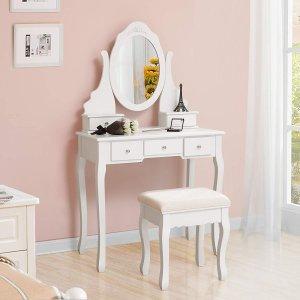 coiffeuse meuble Songmics RDT09W