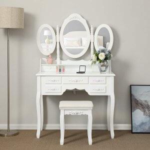 coiffeuse meuble Songmics RDT91W