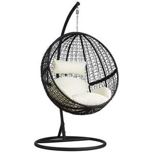 chaise hamac avec support en résine tressée de la marque Tectake