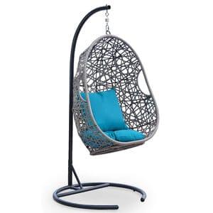 fauteuil suspendu œuf en résine tressée de la marque DecolnParis