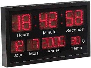 horloge à led avec date