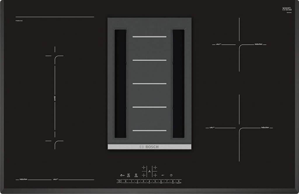 plaque de cuisson à induction intégrée à une hotte Série I 6 de Bosch
