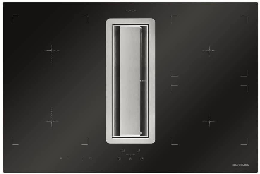 table de cuisson à induction avec hotte aspirante FLIK 854 ES Flow-In de Silverline