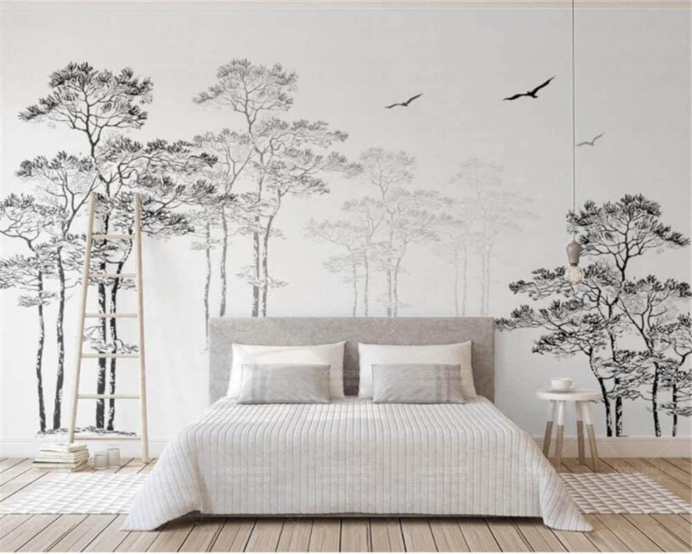 papier peint avec des arbres