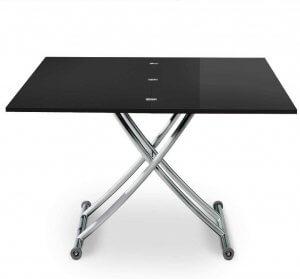Table basse Menzzo noire position haute