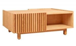Table basse à rangements en chêne