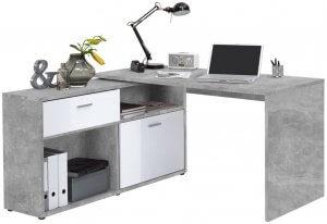 bureau modulable gris