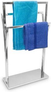 porte triple serviette avec base plate