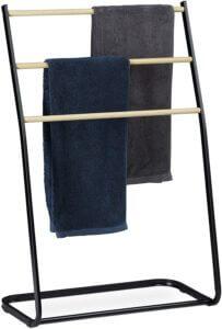 porte serviettes noir