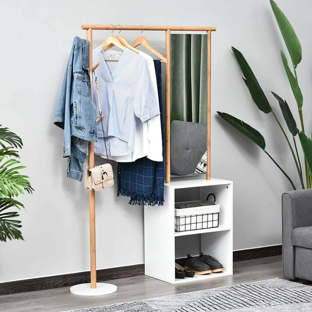 meuble d'entrée pratique et optimisé